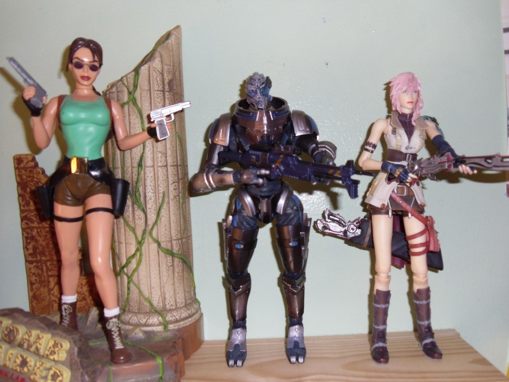 Lara Croft, Garrus and Lightning