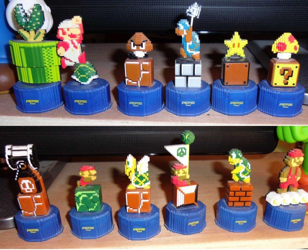 Mario bottle tops
