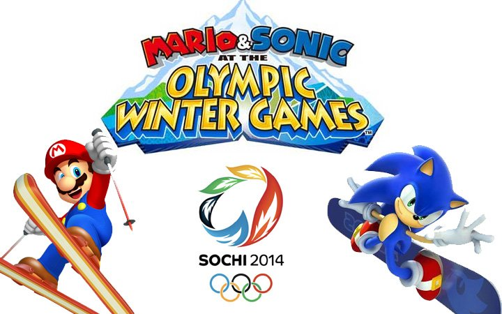 mario and sonic at the sochi winter olympics 2014