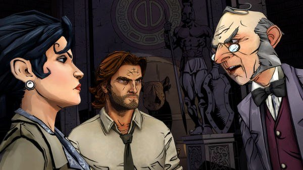 Snow White, Bigby, and ichabod crane in The Wolf Among Us