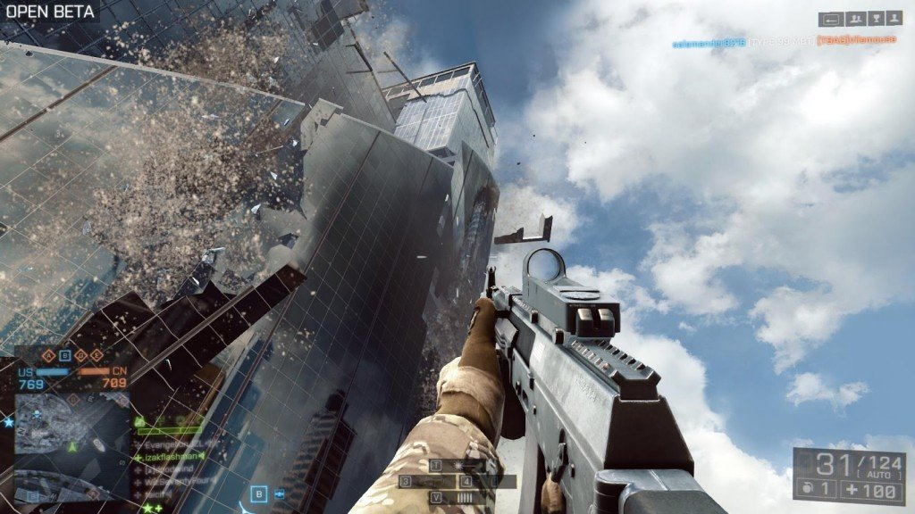 battlefield 4 beta skyscraper falling over