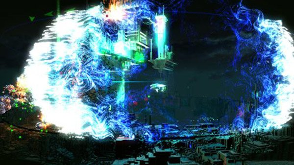 Using a bomb in the ps4 game Resogun