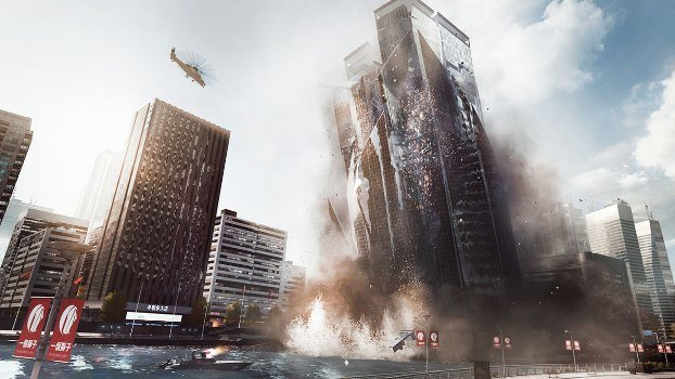 battlefield 4 building falling over