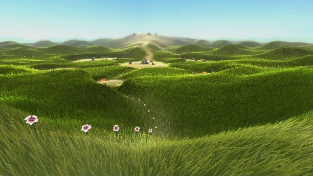 flower screen shot on the playstation 4