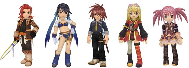 tales of symphonia chronicles costumes